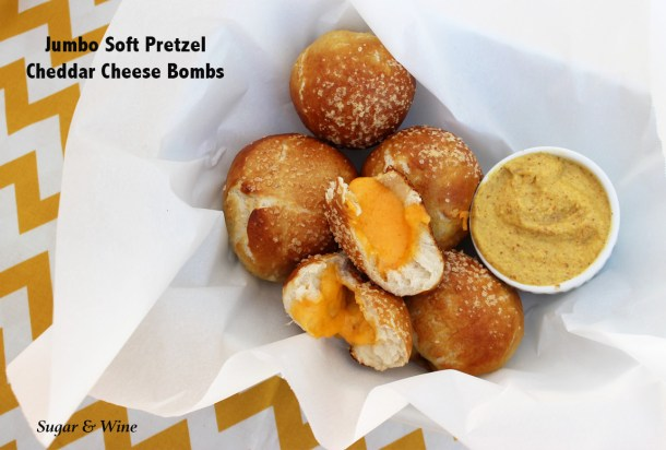 Jumbo Soft Pretzel Cheddar Cheese Bombs