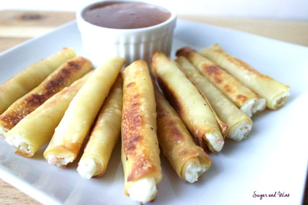 Baked Crab Ragoon Sticks | Sugar and Wine