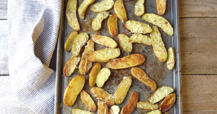 Roasted Fingerling Potatoes with Parmesan, Rosemary, and Black Truffle Salt