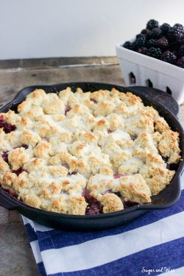Easy Skillet Blackberry Cobbler | Sugar and Wine