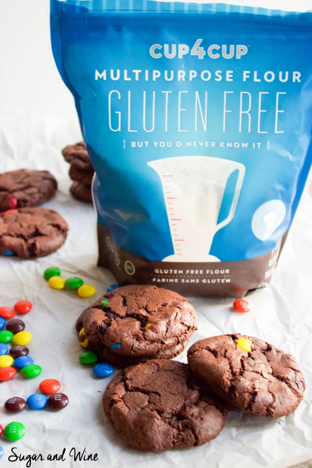 Gluten Free Double Chocolate M&M's Cookies | Sugar and Wine