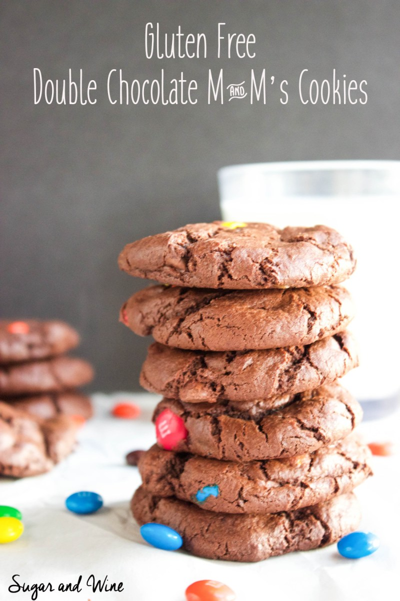 Gluten Free Double Chocolate M&M's Cookies