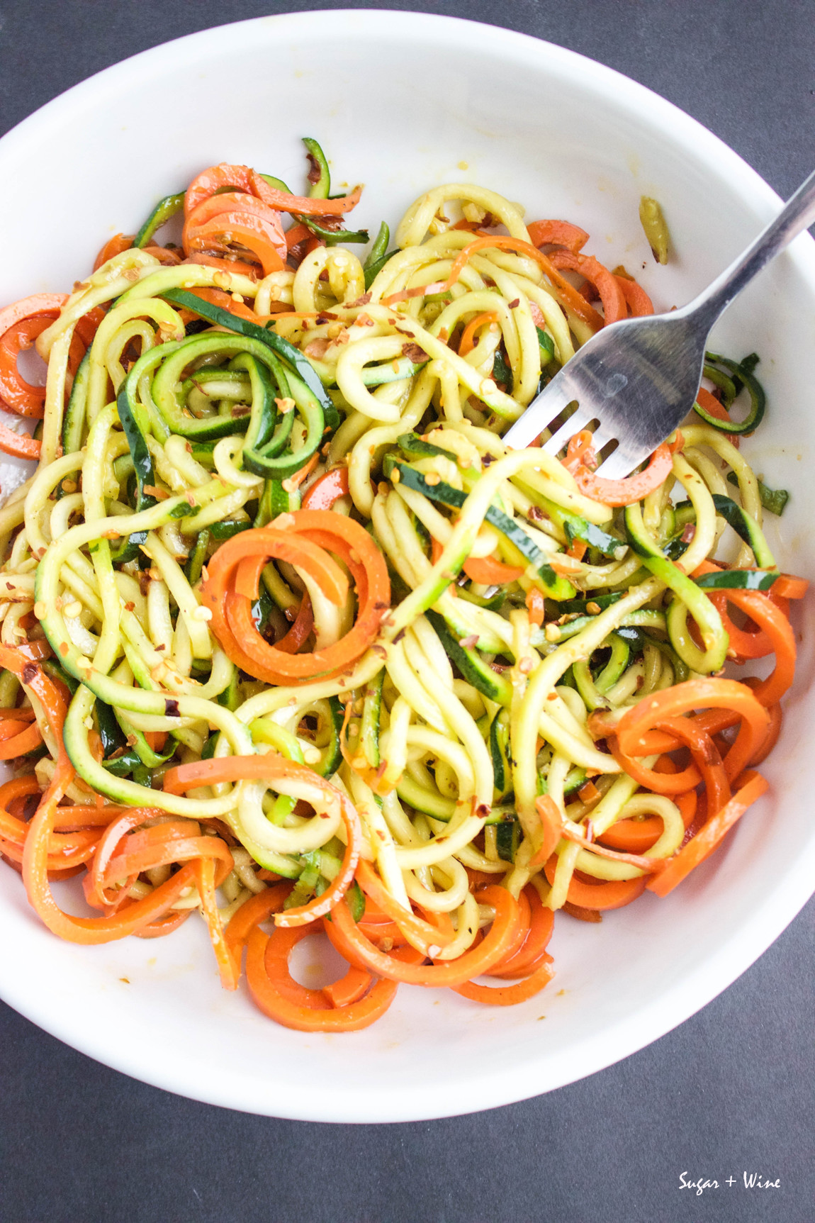 Spicy Veggie Noodles | Sugar and Wine
