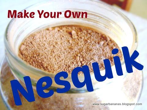 make your own nesquik from sugarbananas