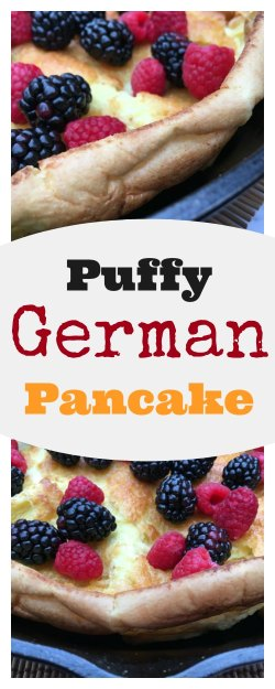 Puffy German Pancake on www.sugarbananas.com Sugar Bananas