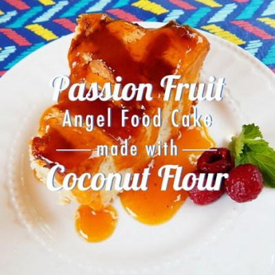 Coconut Passion Fruit Angel Cake
