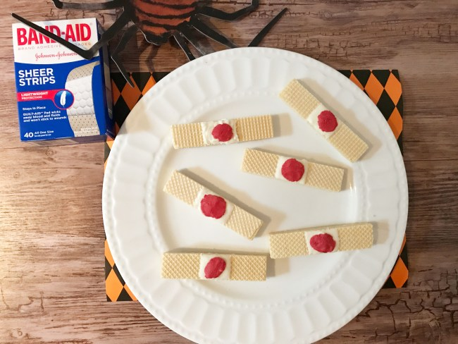 Dirty Bandaids Halloween Party Food Ideas from www.sugarbananas.com