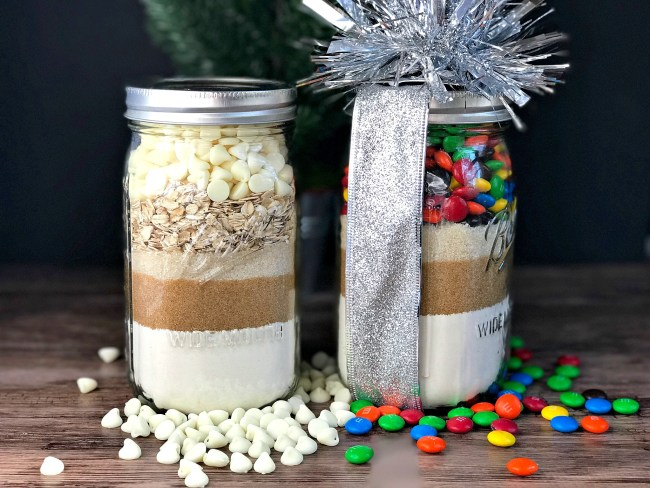 Holiday Food Gift Ideas from www.sugarbananas.com homemade cookie mix in a jar