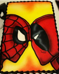 Marvel Cake, Spiderman, Deadpool