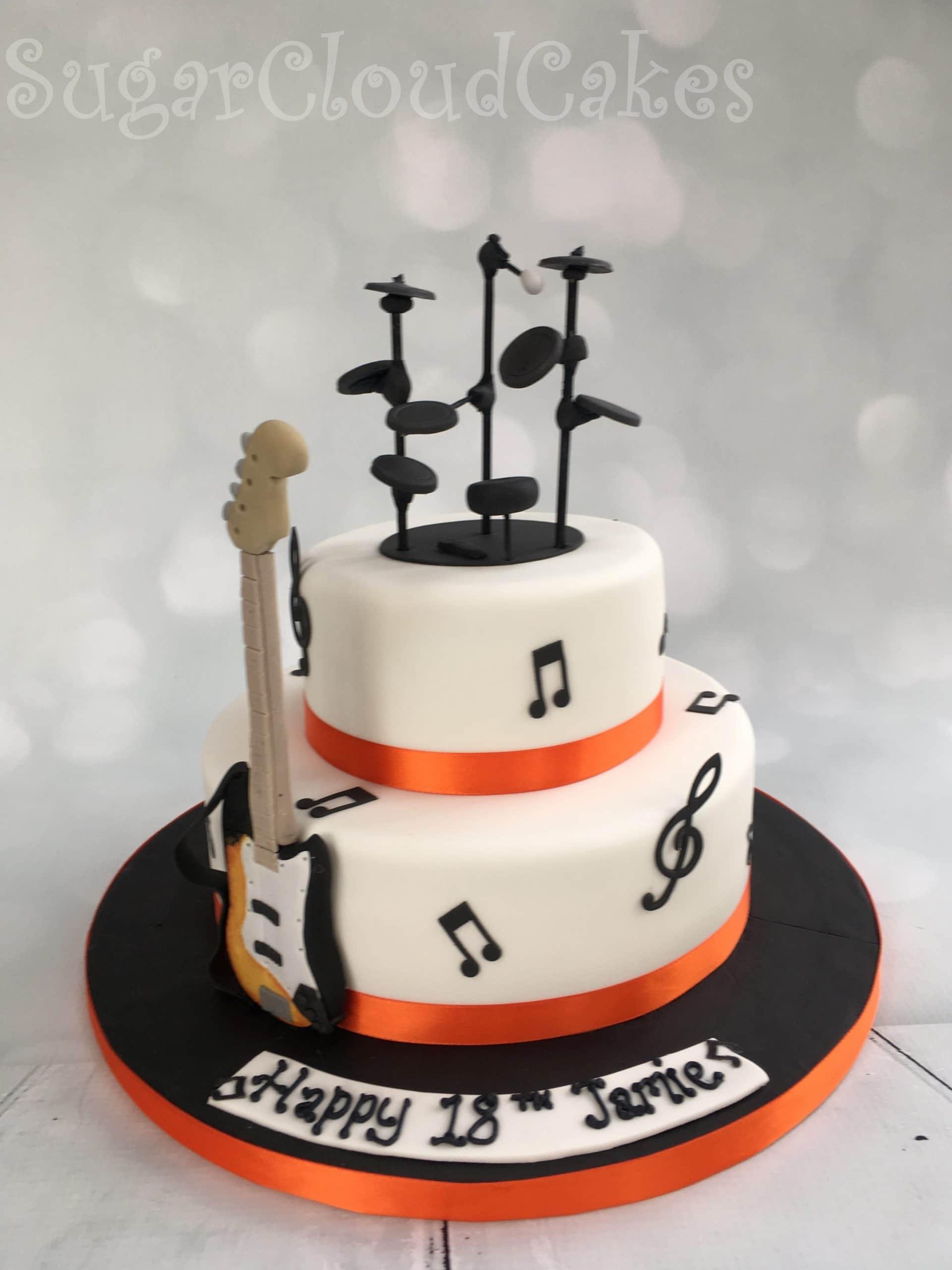 Music 18th Birthday Cake