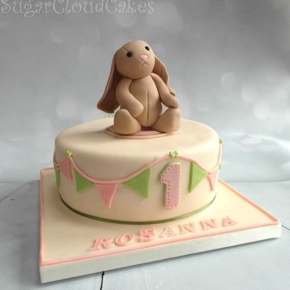 Rabbit Teddy Birthday Cake