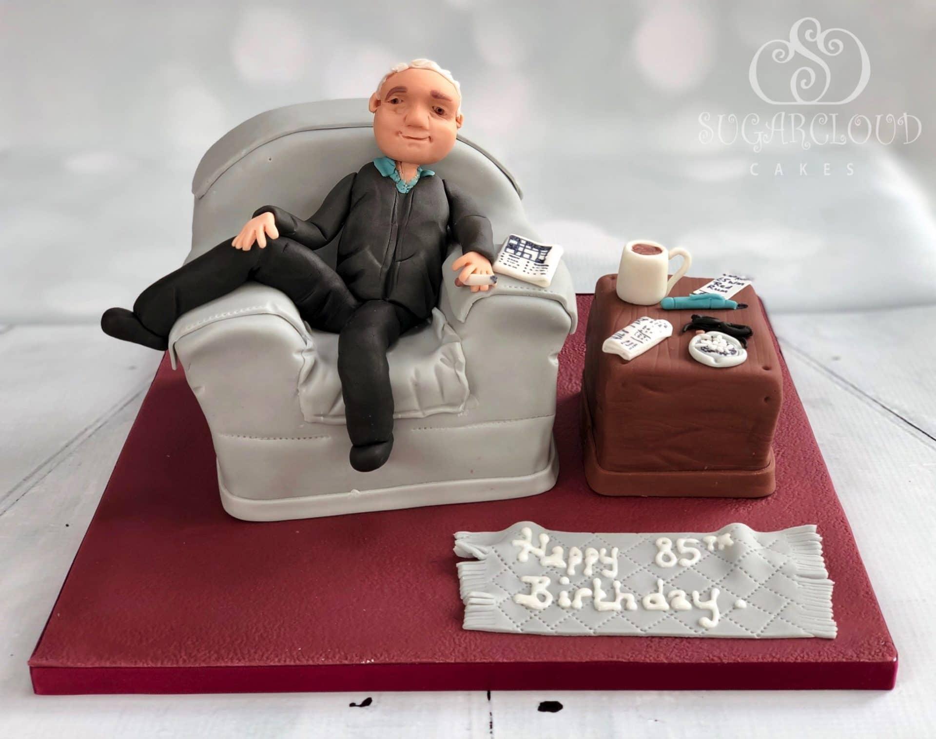 Armchair birthday cake