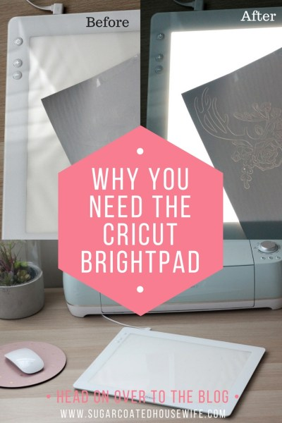 get a full review of the new Cricut Brightpad and why you need it in your crafting tools!! visit www.sugarcoatedhousewife.com for more