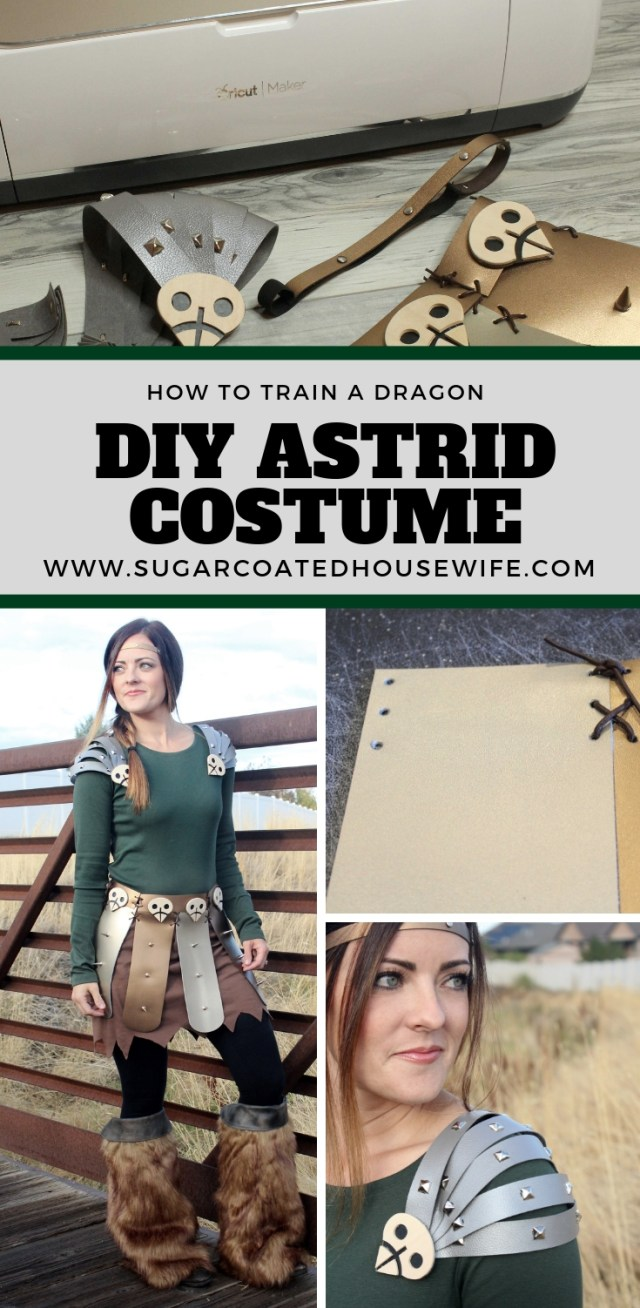 DIY how to train a dragon costumes made with the Cricut Maker. Get the tutorials on www.sugarcoatedhousewife.com