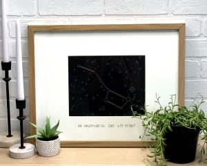 DIY Constellation Foil Art gift using the Cricut Machine and the Cricut Foil Transfer System created by sugarcoatedhousewife.com craft blogger