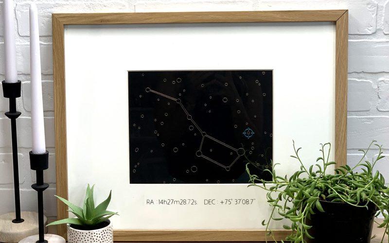 Constellation Foil Art Gift