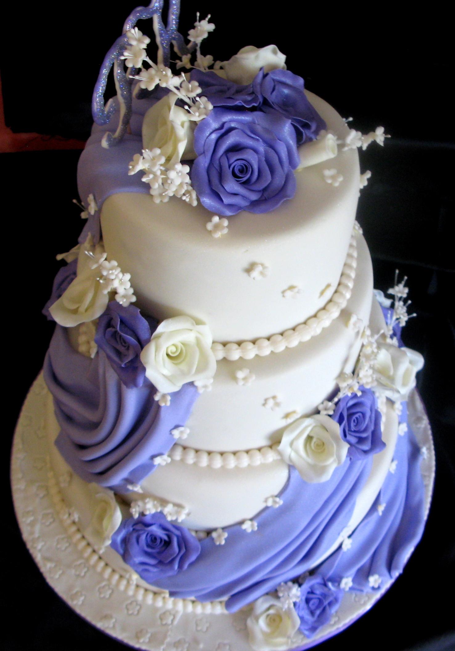 Three Tier Wedding Cake Drapes A Cake Studio Botswana