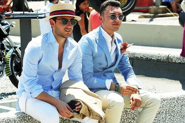 Two classy men