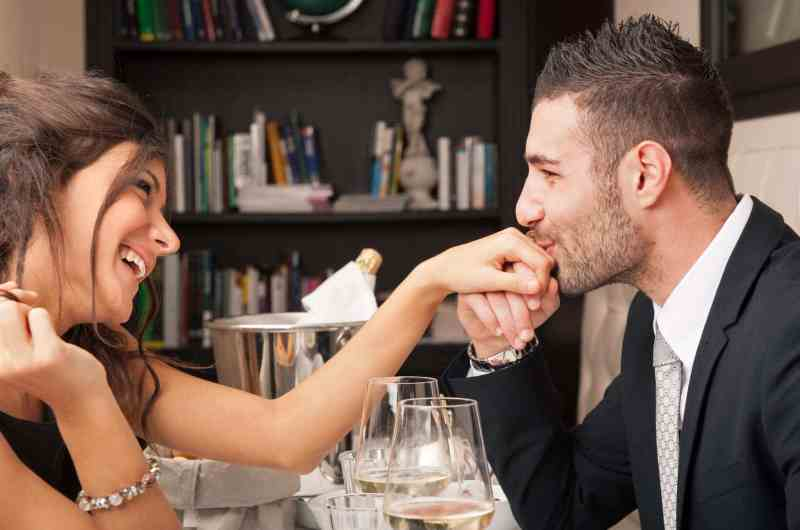 confident man attracted to his woman