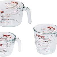 Liquid Measuring Cups, 3-Piece
