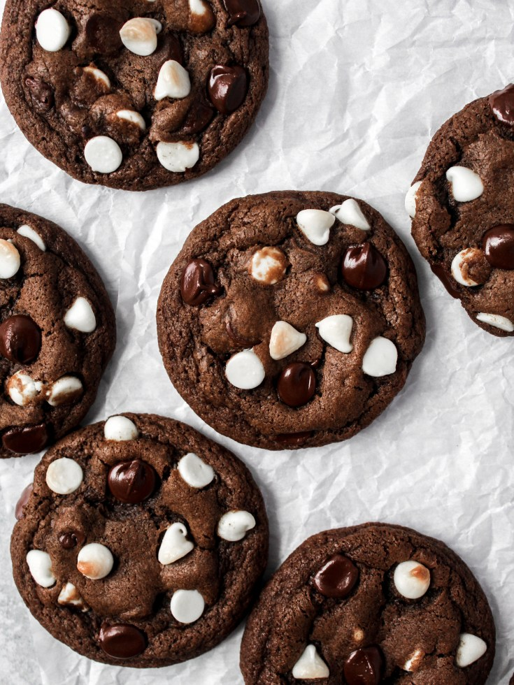 Triple Chocolate Inside Out Cookies