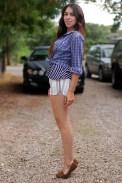 Moccasins white short shorts