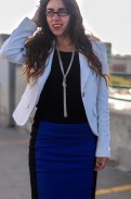 Blazer, Business, Outfit, Pencil Skirt