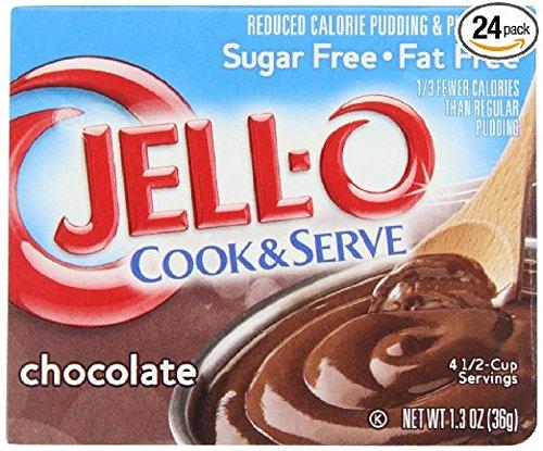 Jello Cook Serve Pudding Pie Filling Sugarfree Fat Free