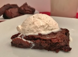 Perfect Gluten-Free Brownies with Ice Cream