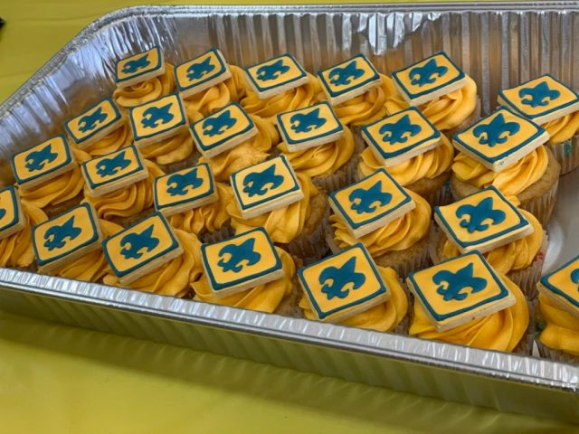 scouts cupcakes blue gold