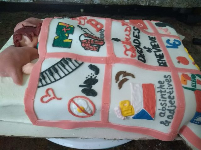fondant cake quilt