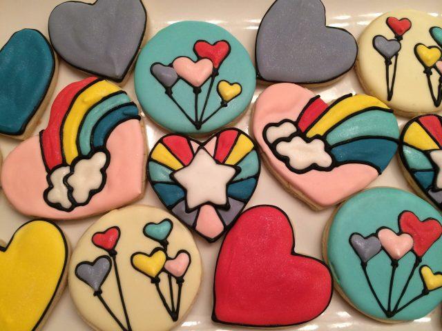 Rainbow brite sugar cookies royal icing