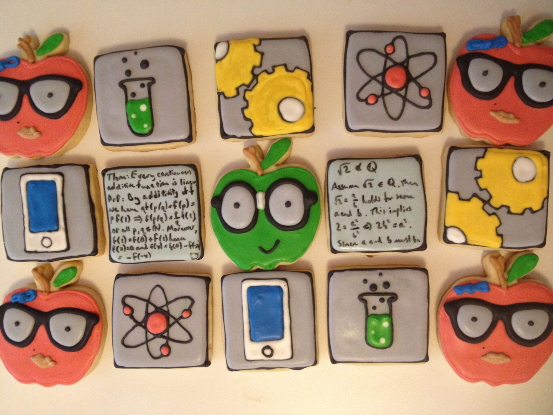 STEM royal icing sugar cookies