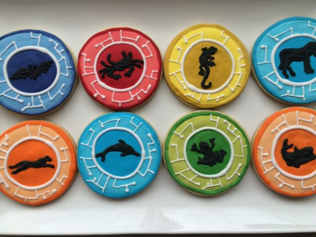 wild kratts power disks royal icing sugar cookies