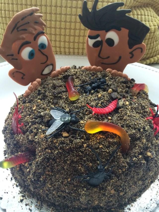 chris martin wild kratts royal icing dirt cake worms