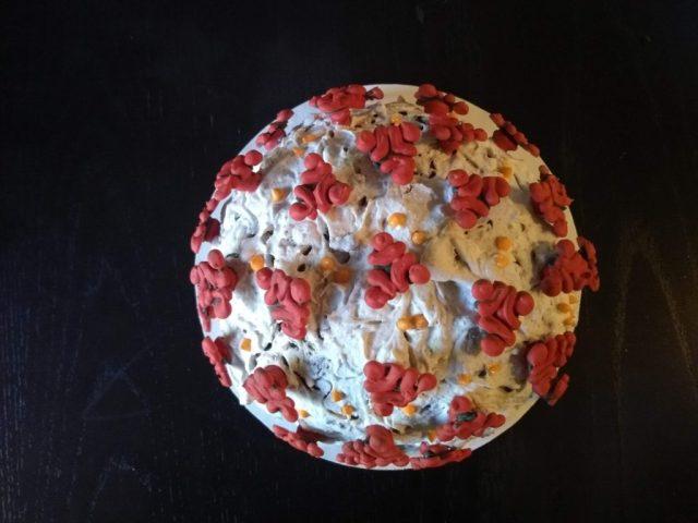coronavirus ice cream cake