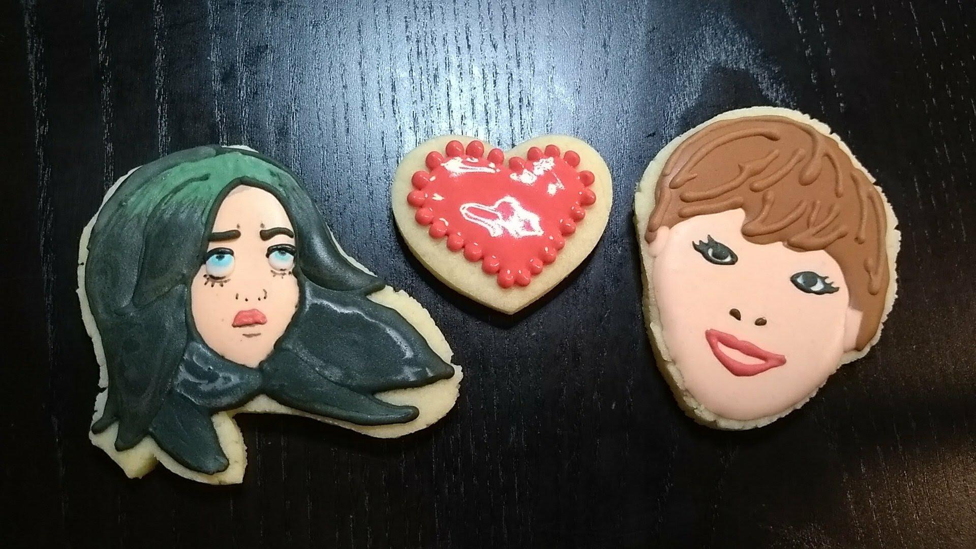 tourette awareness i love billie eilish royal icing sugar cookie