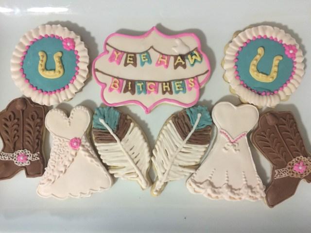 western wedding sugar cookies royal icing
