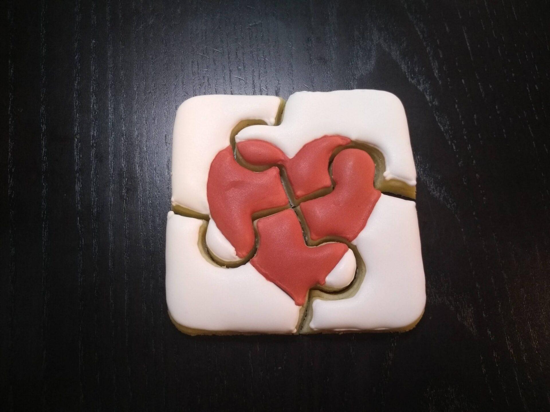autism puzzle royal icing sugar cookies