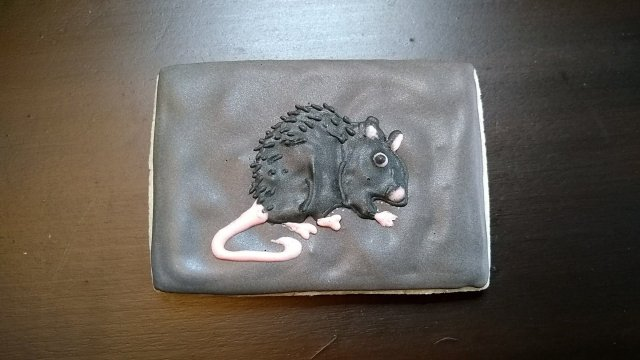 rat great depression royal icing cookie