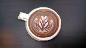 latte art cookie