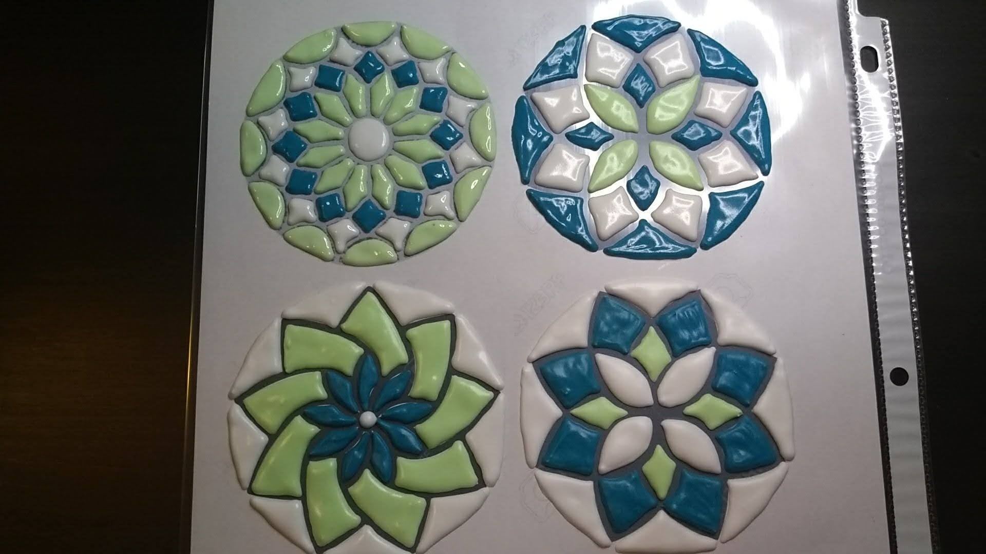 mosaic tile royal icing transfers