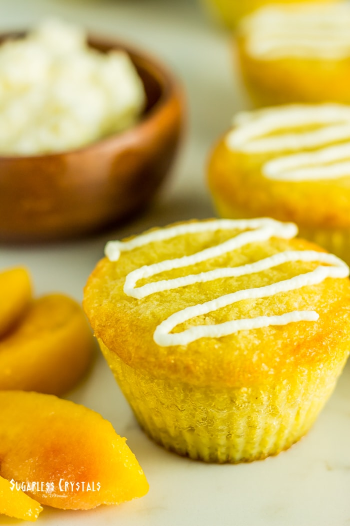 keto lemon coconut flour cupcakes