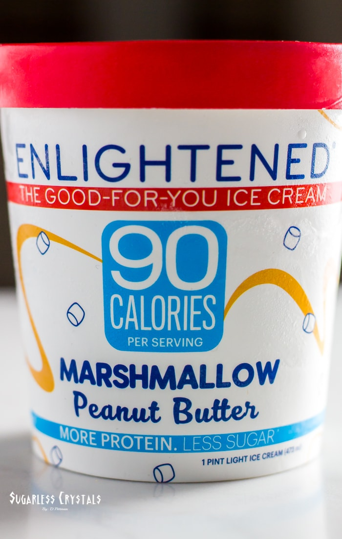 pint of enlightened ice cream flavor marshmallow peanut butter