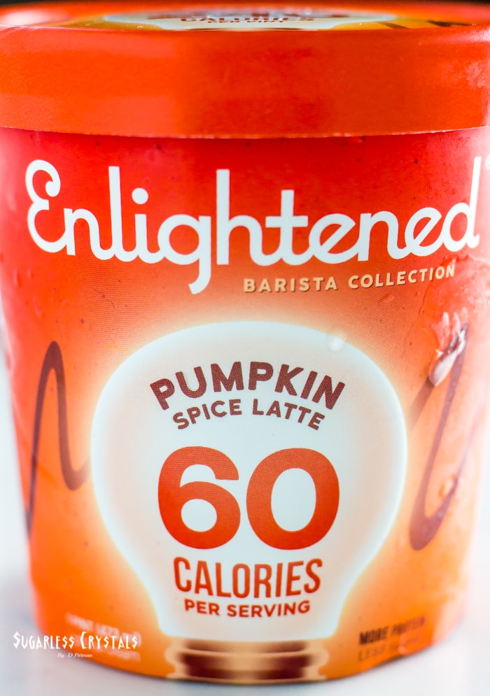 pint of Enlightened ice cream flavor pumpkin spice latte from the barista collection