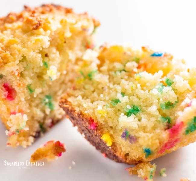 Vanilla Keto Birthday Cake Cupcakes(Low Carb, Grain-Free, Sugar-Free)