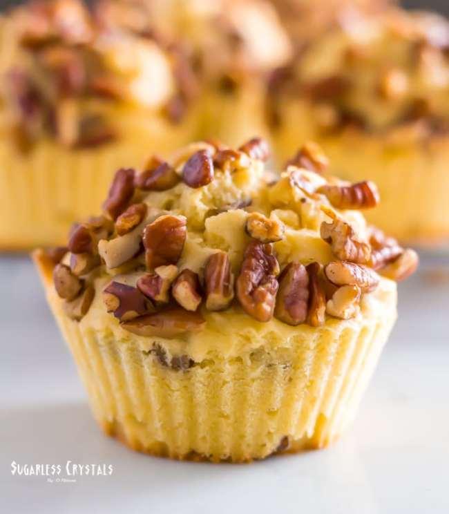 Keto Pecan Pie Muffins (Grain Free, Low Carb, Sugar Free)