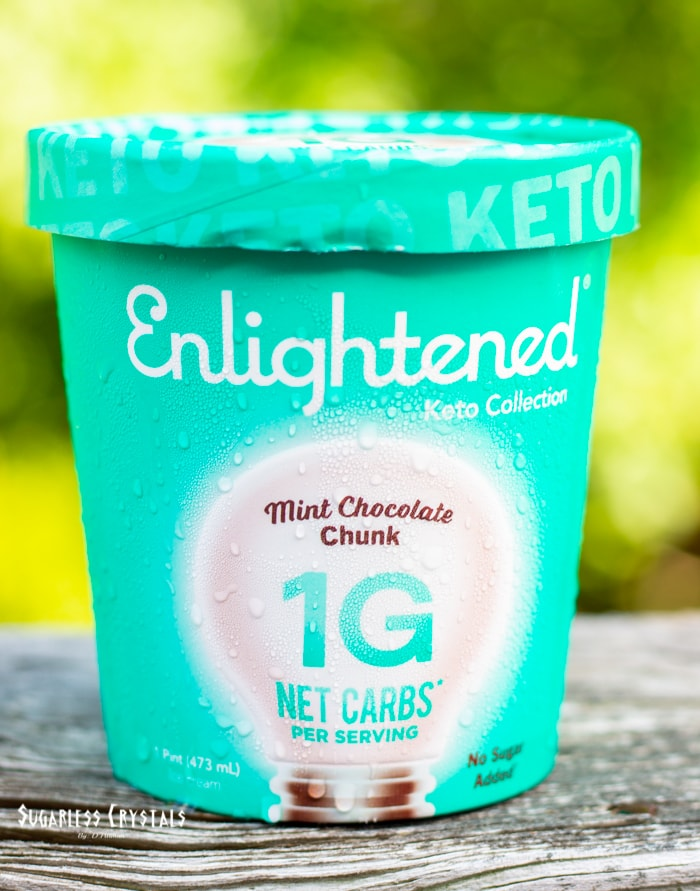 mint chocolate chunk enlightened ice cream keto collection pint