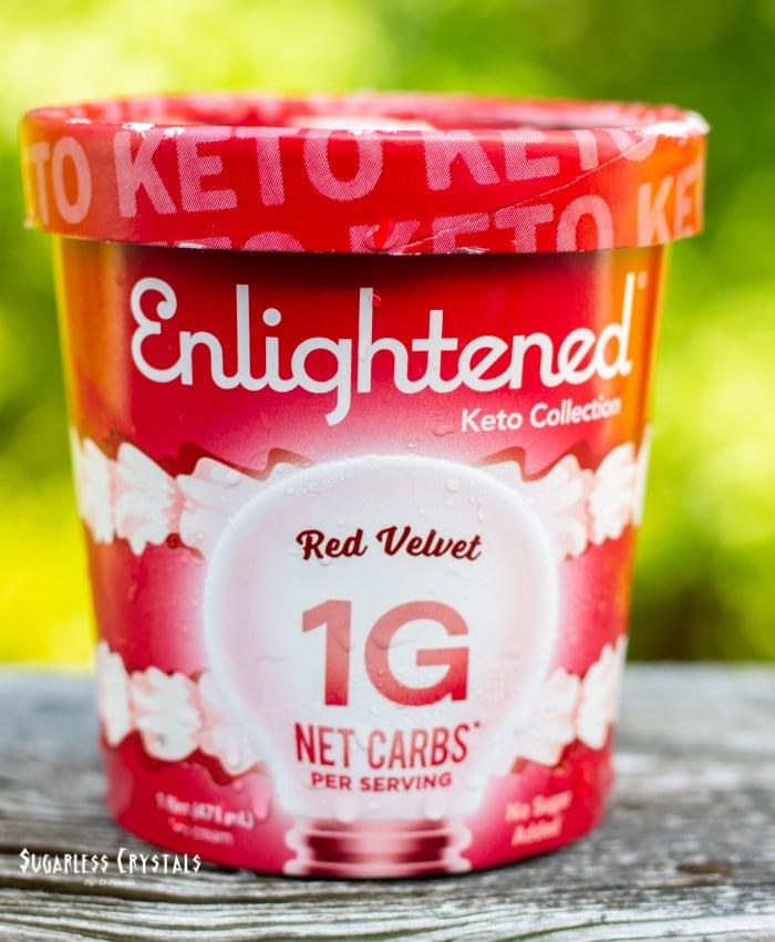 red velvet keto cream pint by enlightened