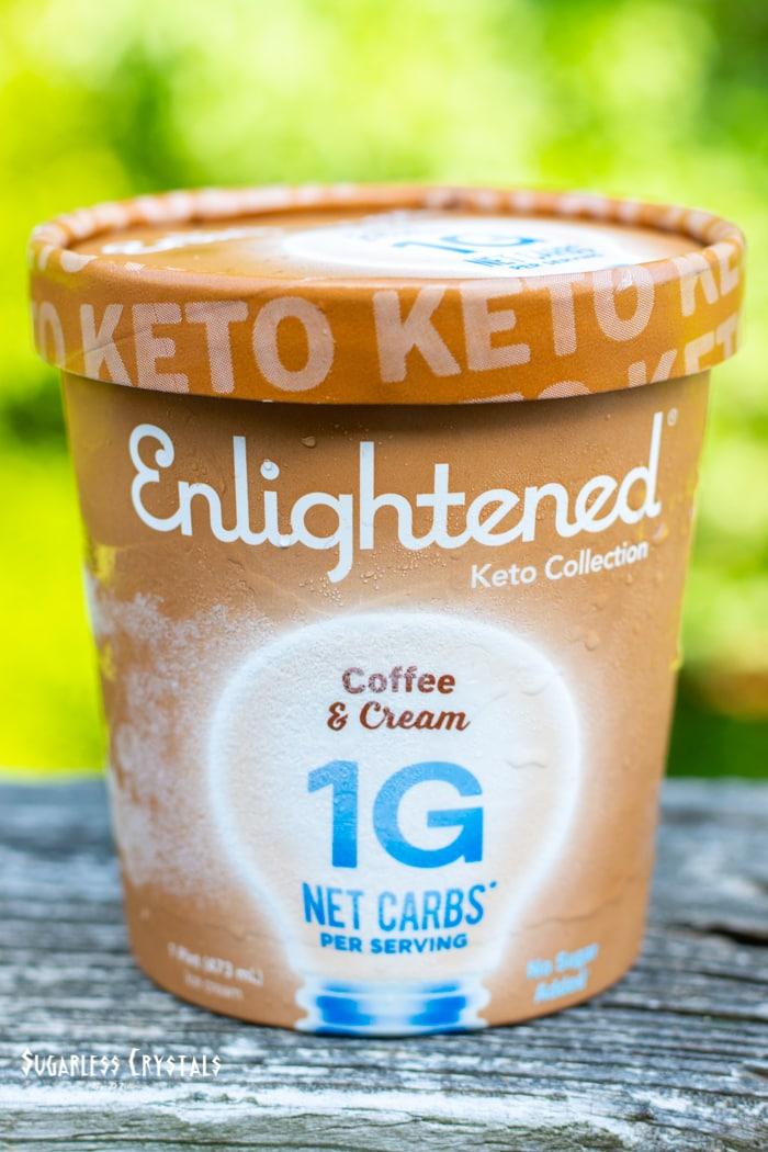 coffee and cream keto ice cream pint